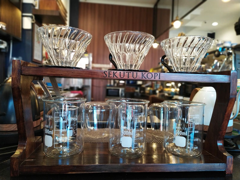 Sekutu kopi glass